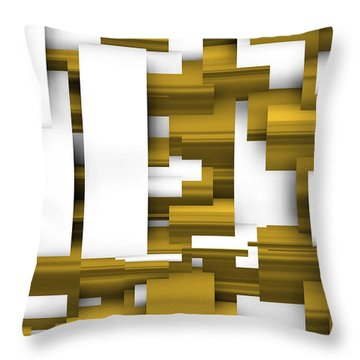 Abstract White And Gold. Throw Pillow
