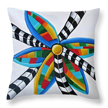 Abstract Windmill  Throw Pillow