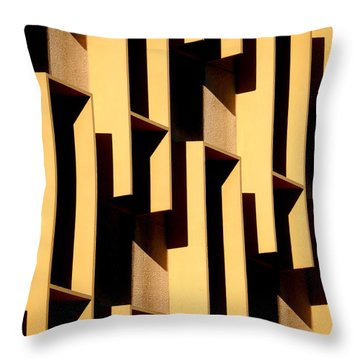 State Building Abstract Throw Pillow