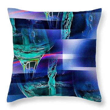 Abstract Wine  Throw Pillow