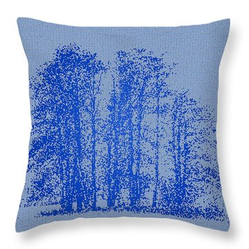 Abstract Winter Impressions 2 Throw Pillow