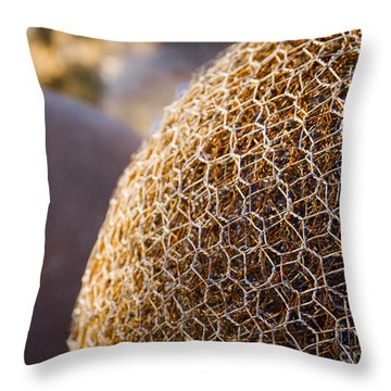 Throw Pillow featuring the photograph Abstract Wire 1 by Serene Maisey