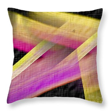 Abstract With A Black Background Throw Pillow by John Krakora
