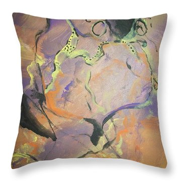 Abstract Woman Throw Pillow by Raymond Doward