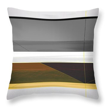Abstract Yellow And Grey  Throw Pillow