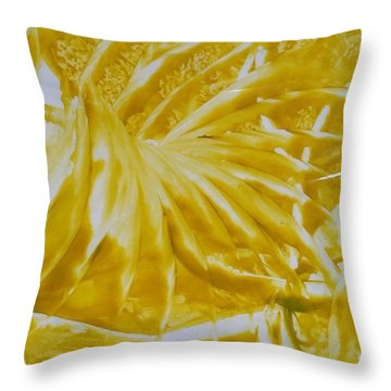 Abstract Yellow  Throw Pillow