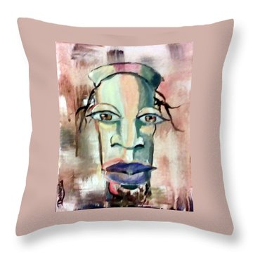 Abstract Young Man #2 Throw Pillow by Raymond Doward