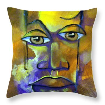 Abstract Young Man Throw Pillow