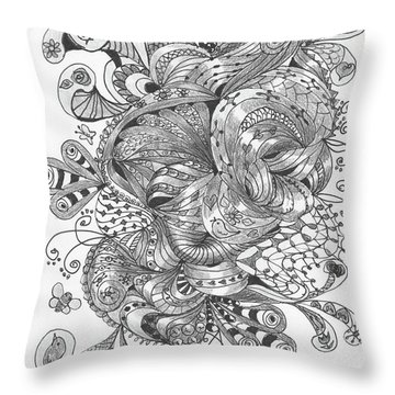 Abstract2 Throw Pillow by Quwatha Valentine