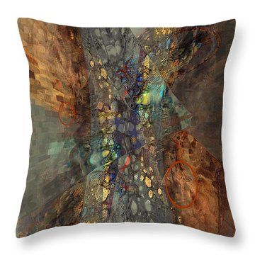 Abstracted Extrusion  Throw Pillow