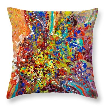 Abstracted Person Playing Throw Pillow
