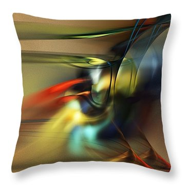 Abstraction 022023 Throw Pillow by David Lane