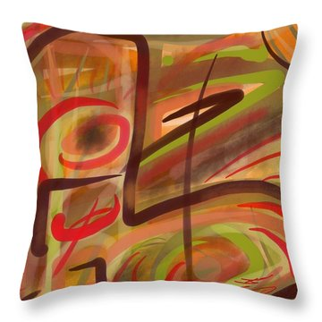 Abstraction Collect 2 Throw Pillow
