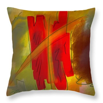 Abstraction Collect 3 Throw Pillow