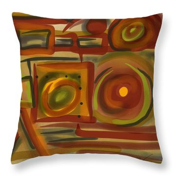 Abstraction Collect 4 Throw Pillow