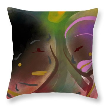 Fro Abstraction 1 Throw Pillow