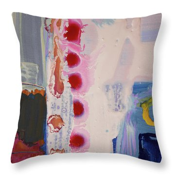 abstraction, fire in the Chakras Throw Pillow