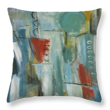 Abstraction I Throw Pillow by Trish Toro