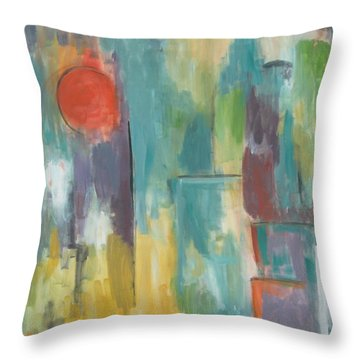 Abstraction II Throw Pillow by Trish Toro