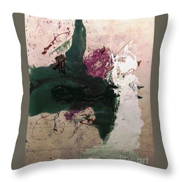 Abstraction White Red Green  Throw Pillow