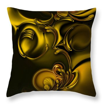 Throw Pillow featuring the digital art Abstraction With Meditation by Carmen Fine Art