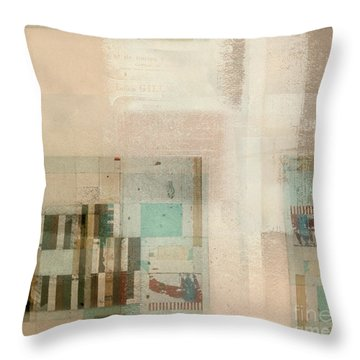 Throw Pillow featuring the digital art Abstractitude - C01b by Variance Collections