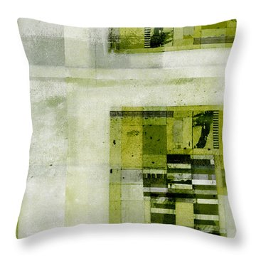 Throw Pillow featuring the digital art Abstractitude - C4bv2 by Variance Collections