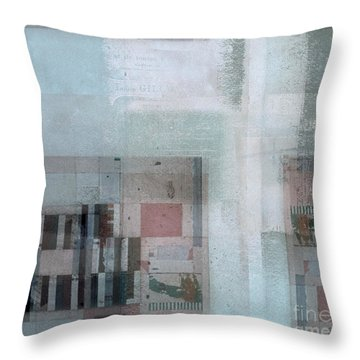 Throw Pillow featuring the digital art Abstractitude - C7 by Variance Collections