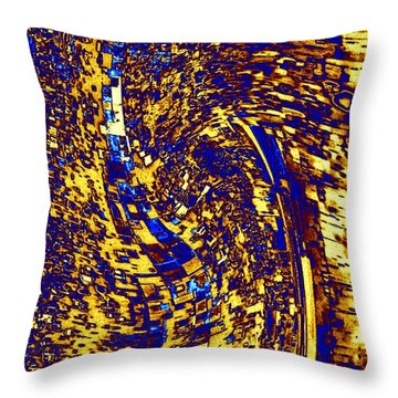 Throw Pillow featuring the digital art Abstractmosphere 3 by Will Borden