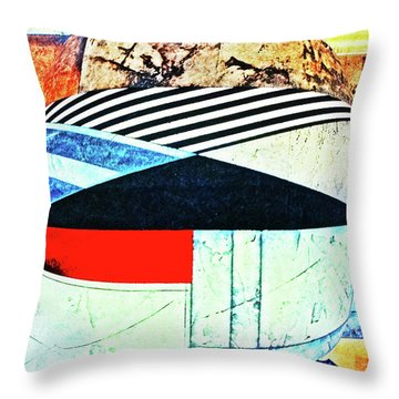 Abstracts On Red Throw Pillow by Bruce Iorio