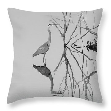 Abstracts On The Lake Throw Pillow by Carolyn Dalessandro