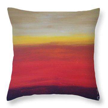 Abstract_sunset Throw Pillow