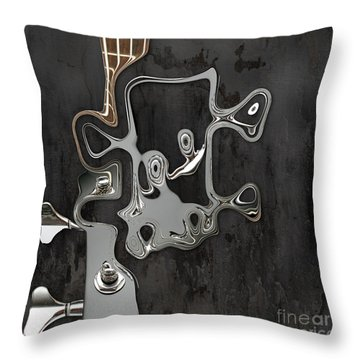 Throw Pillow featuring the digital art Abstrait En Sol Majeur  by Variance Collections