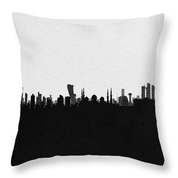 Abu Dhabi Cityscape Art Throw Pillow