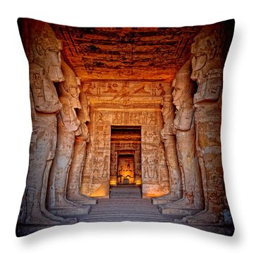 Abu Simbel Great Temple Throw Pillow