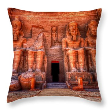 Abu Simbel Throw Pillow