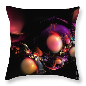 Throw Pillow featuring the digital art Abundance by Sipo Liimatainen