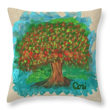 Abundant Tree Throw Pillow
