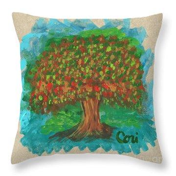 Abundant Tree Throw Pillow