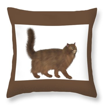 Abyssinian Cat Throw Pillow by Corey Ford