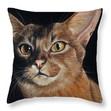 Abyssinian Throw Pillow