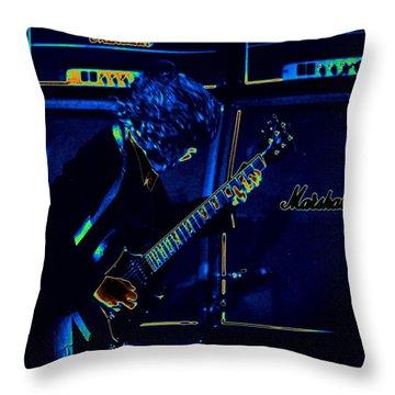 Ac Dc Electrifies The Blues Throw Pillow