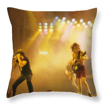 Ac Dc Throw Pillow