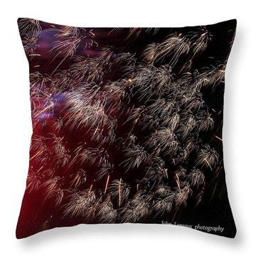 Ac Fireworks 2 Throw Pillow by John Loreaux