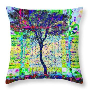 Acacia Tree Throw Pillow