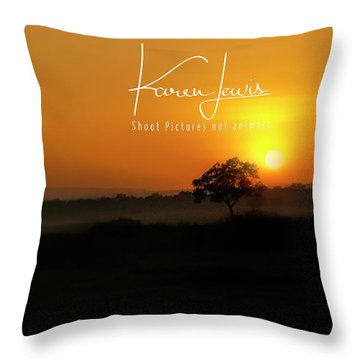 Throw Pillow featuring the photograph Acacia Tree Sunrise by Karen Lewis