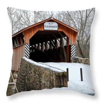 Academia Covered Brigde Throw Pillow