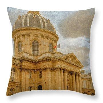 Paris, France - Academie Francaise Throw Pillow