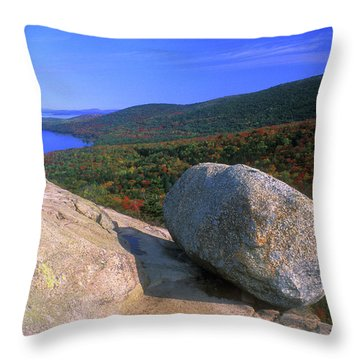 Acadia Bubble Rock Throw Pillow by John Burk