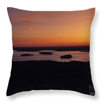 Acadia National Park - Maine Usa Throw Pillow by Erin Paul Donovan